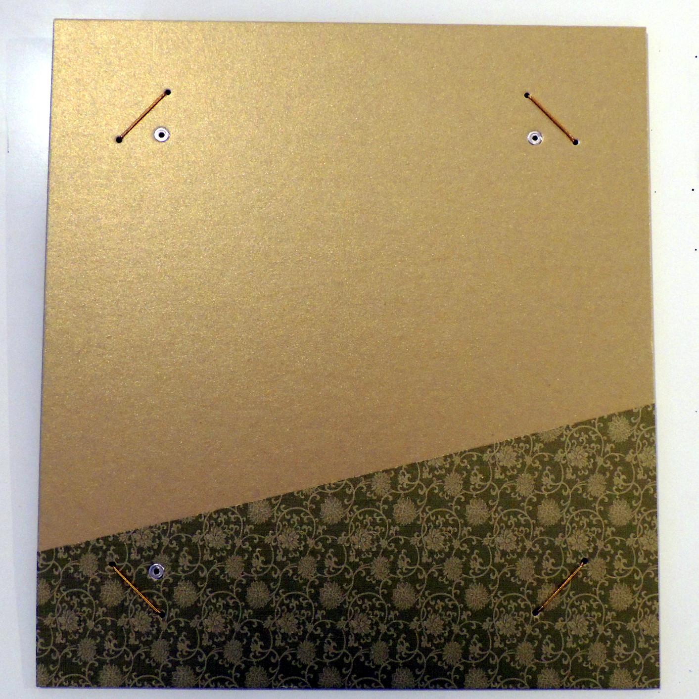 HrahmS-Gold   Hänge-Bilderrahmen für Shikishi-Papier aus hartem
